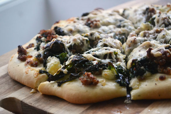 Lamb & kale pizza 8