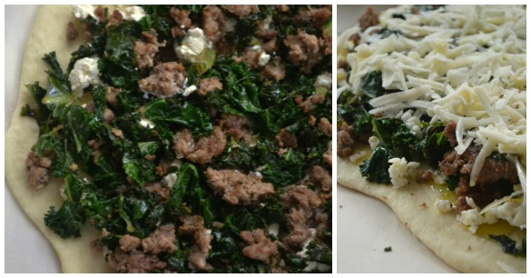 Lamb pizza Collage