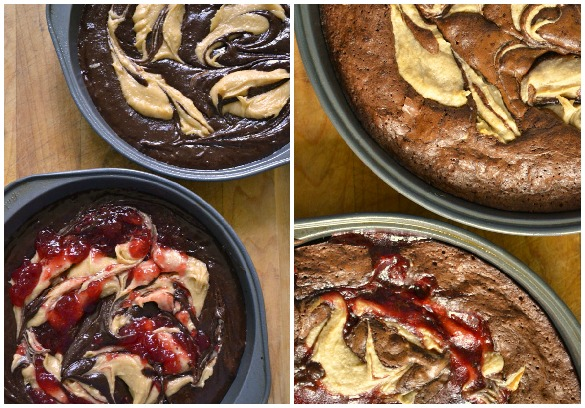 almond swirl brownies Collage 1