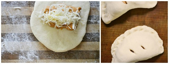 butter chicken naan pockets Collage 1