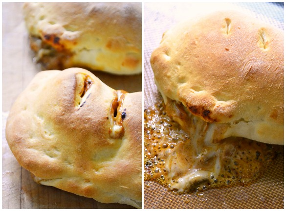 butter chicken naan pockets Collage 2
