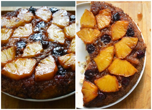 pineapple upside down cake Collage