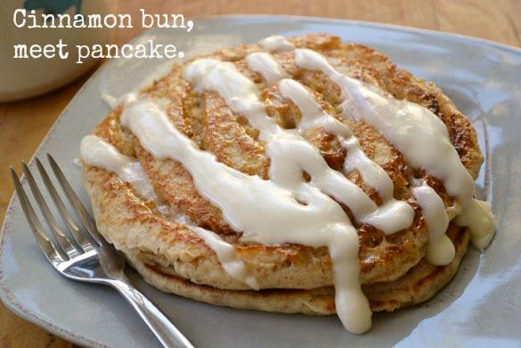 Cinnamon bun pancakes 5
