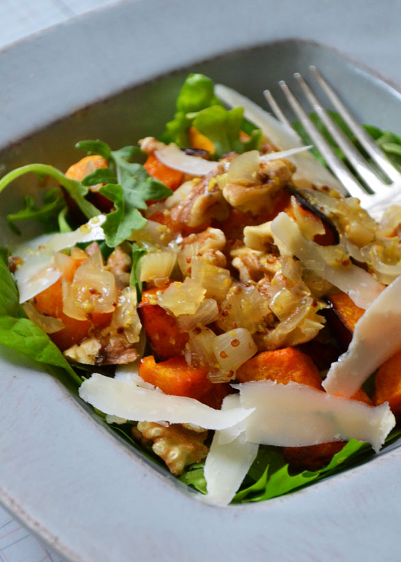 Roasted Butternut Squash Salad with Warm Cider Vinaigrette - Dinner ...