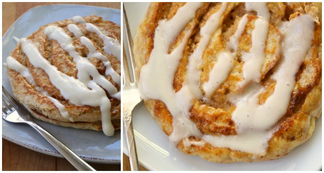 cinnamon bun pancake Collage 2