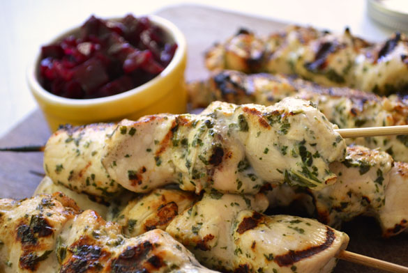 mint chicken kabobs 4