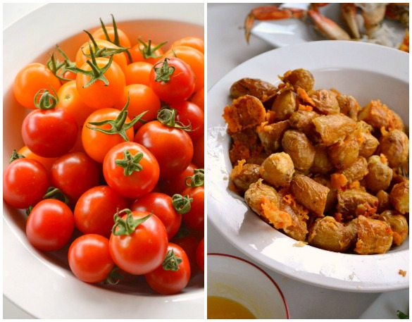 tomato potato Collage