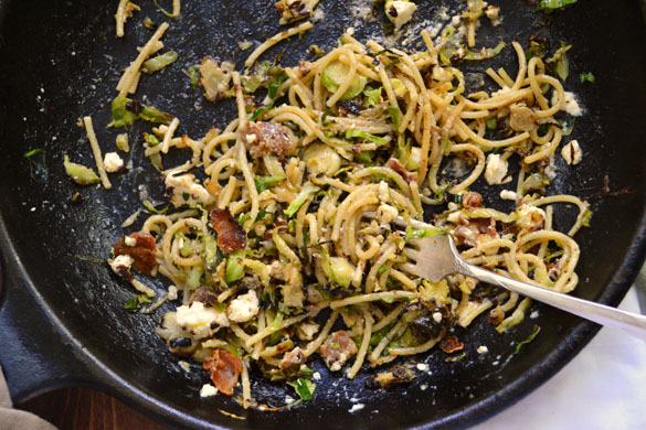 Brussels sprout pasta 3