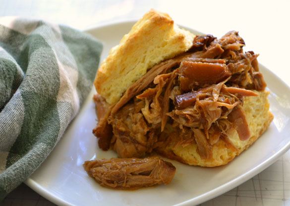 Pulled pork with peaches