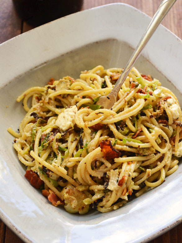 brussels sprout pasta 1