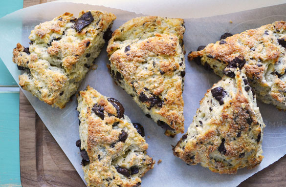 chocolate oat scones 6