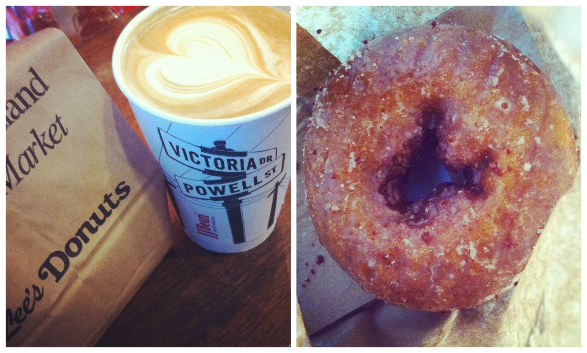 coffee & donut Collage