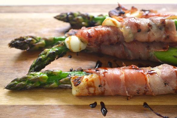 Asparagus w Prosciutto & Cheese 1