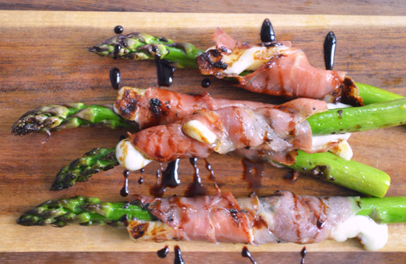 Asparagus w Prosciutto & Cheese 2