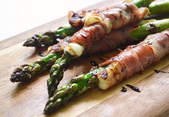 Asparagus w Prosciutto & Cheese 3