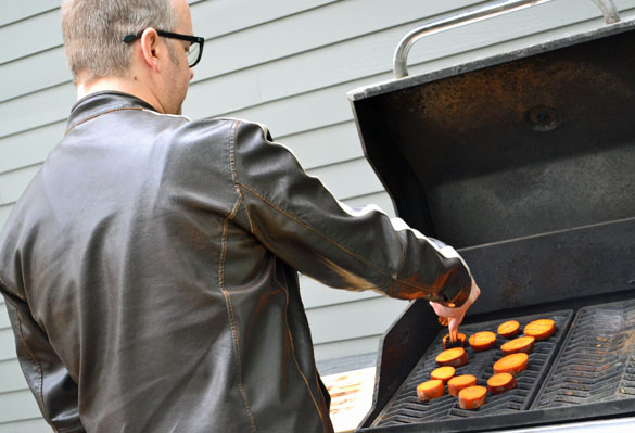 grilling sweet potato