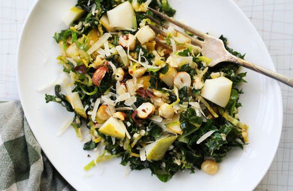 Browned butter brussels sprout salad 1