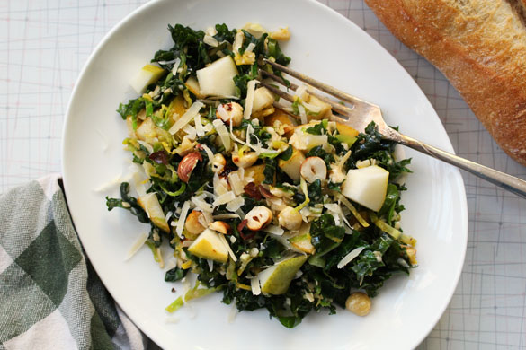 Browned butter brussels sprout salad 3