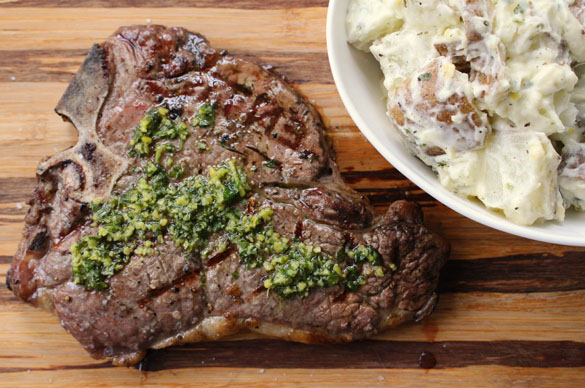 Steak with gremolata 6
