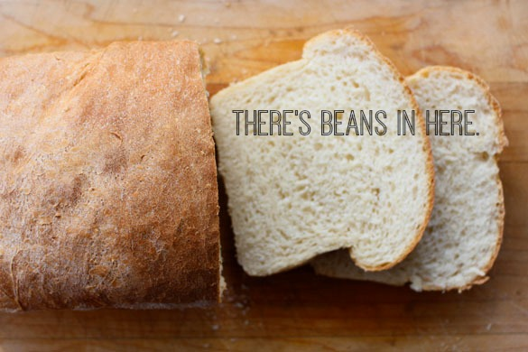 white bean white bread text