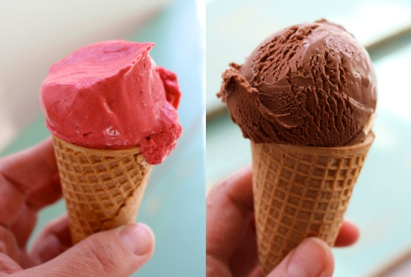 Thermomix ice cream collage