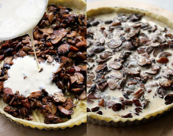 mushroom tart Collage 2