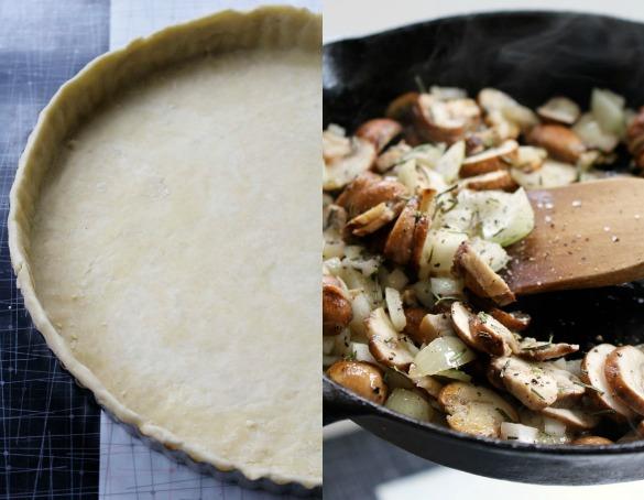 mushroom tart Collage