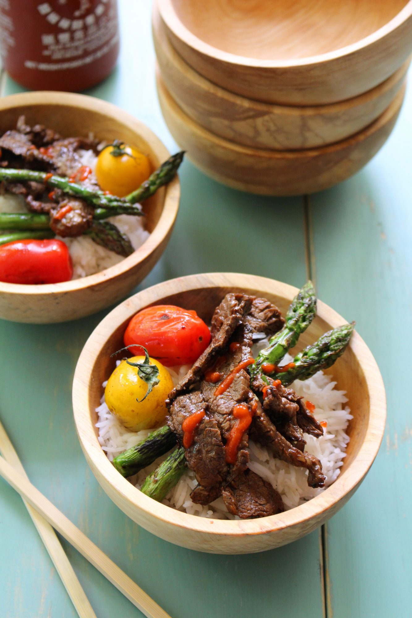 ... fried egg recipes korean rice bowl with steak asparagus and fried egg