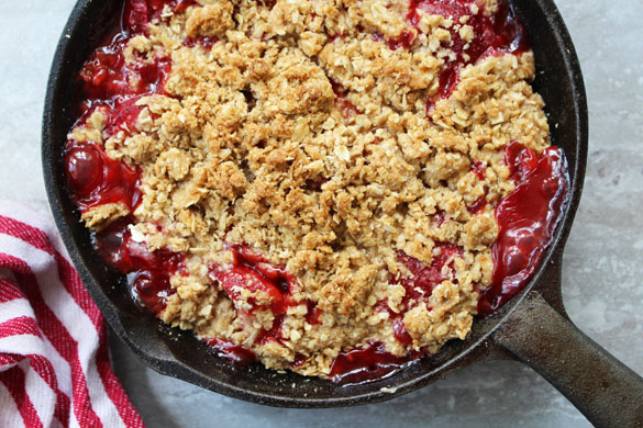 Strawberry-Rhubarb Crumble - Dinner With Julie