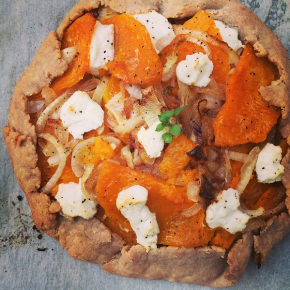 Caramelized Onion, Butternut Squash & Goat Cheese Galette - Dinner ...
