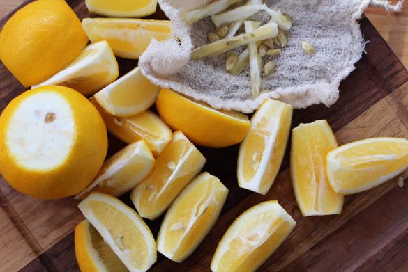 sliced meyer lemons 2