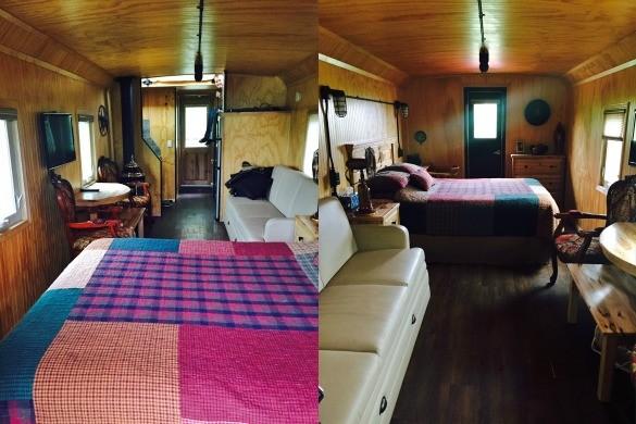 Caboose cabin interior