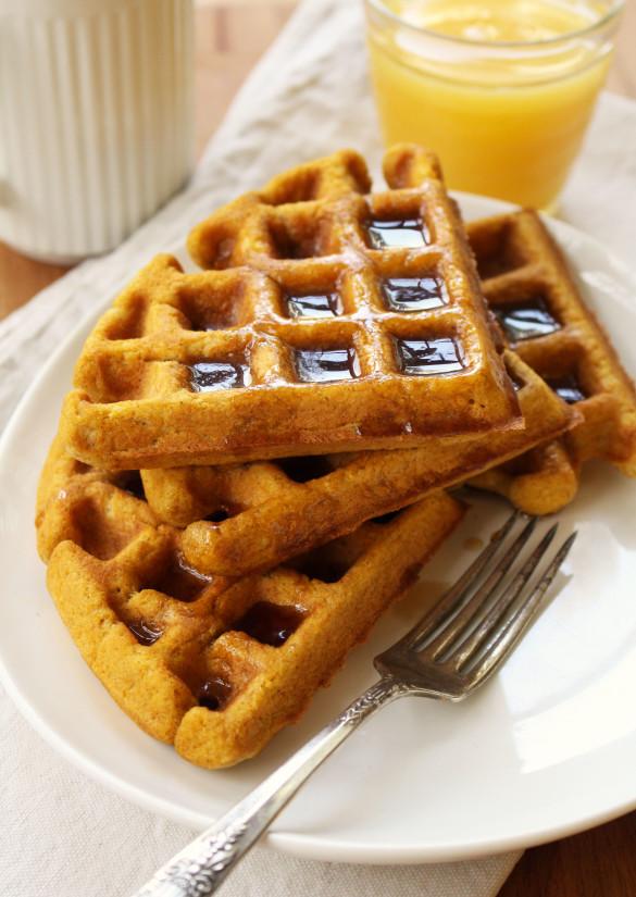 Pumpkin waffles 2