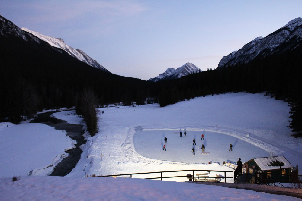 banff springs skating rink