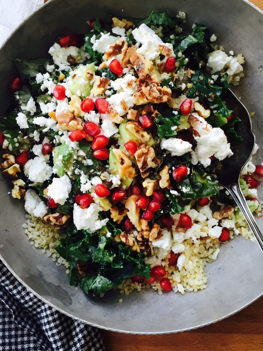 Quinoa, Kale, Feta & Walnut Salad - Dinner With Julie