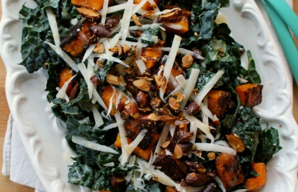 Kale & roasted squash salad