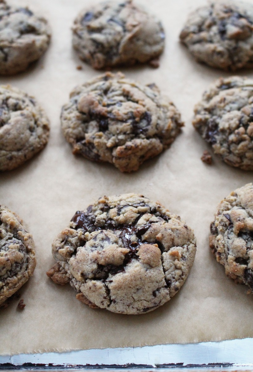 Puddle of chocolate cookies