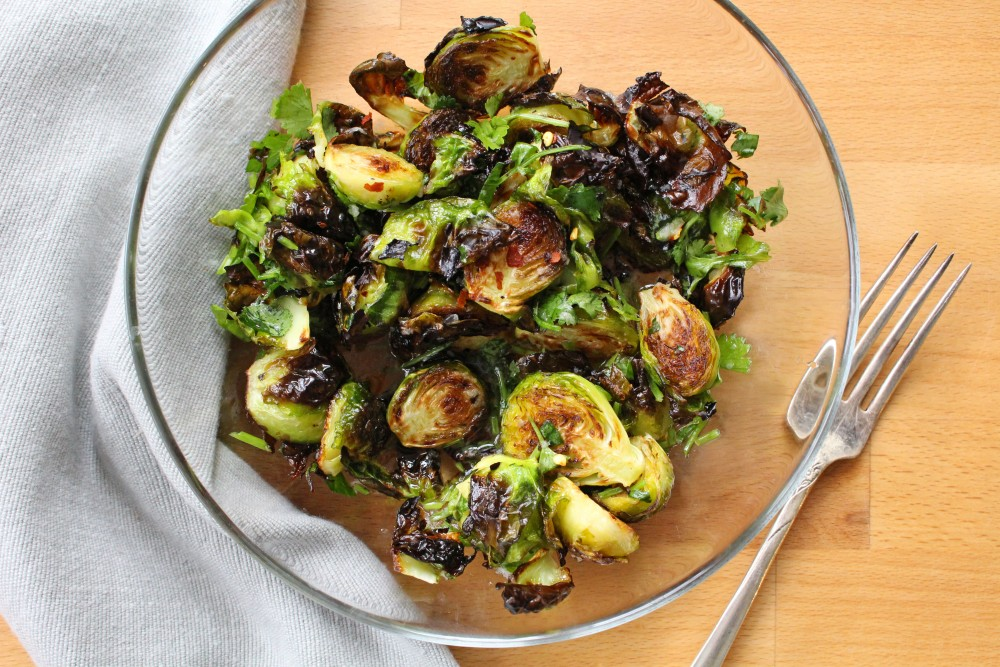 roasted brussels sprouts with fish sauce dinner with julie
