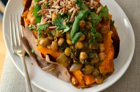 coconut braised chickpeas 1