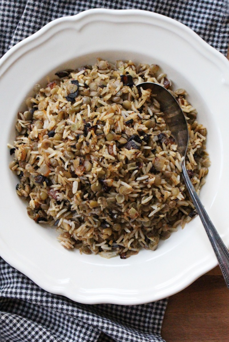 lentils and rice 1
