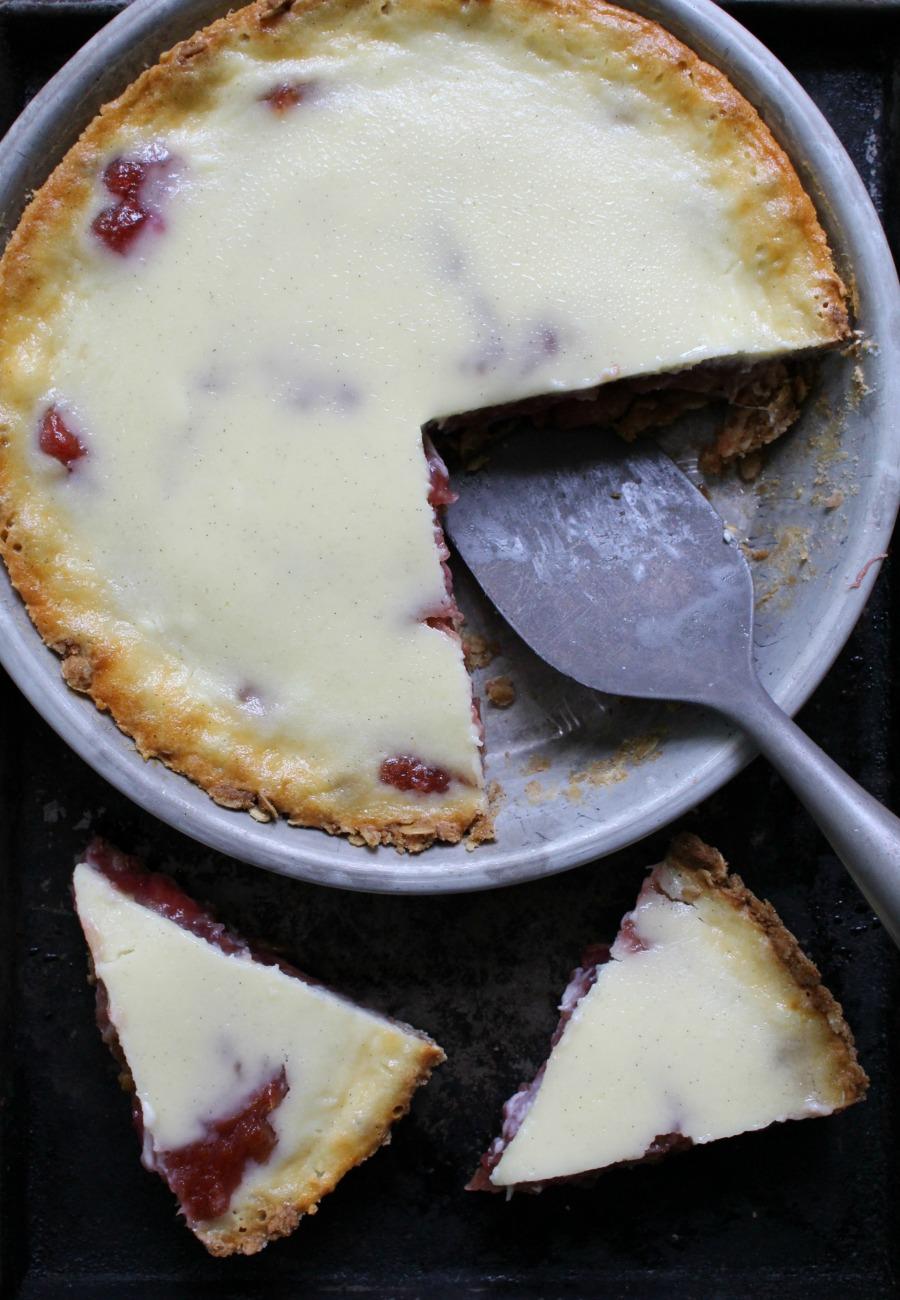 Rhubarb Custard Pie With An Oatmeal Cookie Crust Dinner
