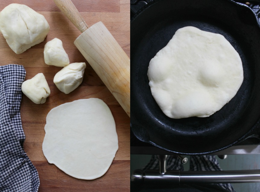 making flour tortillas 2