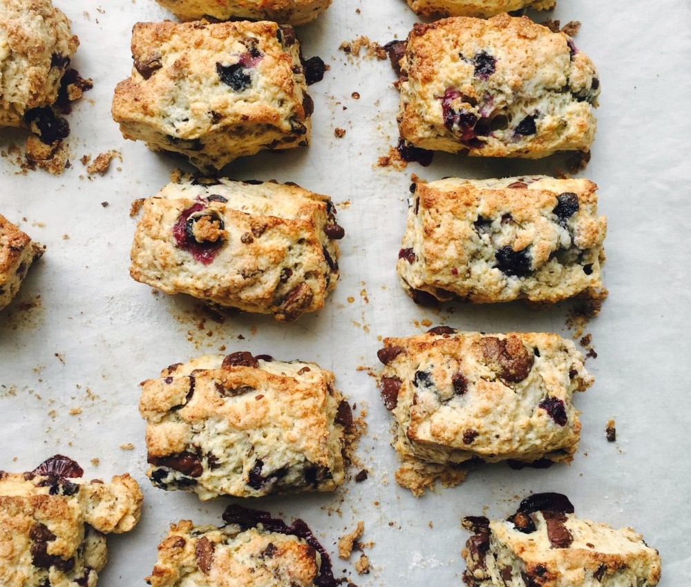 Blueberry Dark Chocolate Scones 3