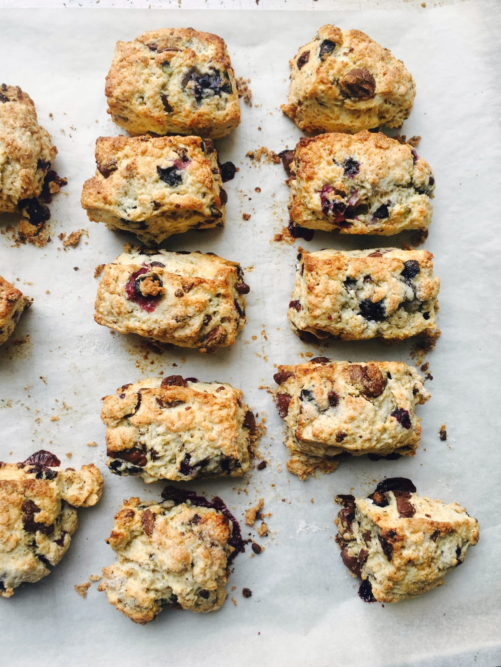 Blueberry Dark Chocolate Scones - Dinner With Julie