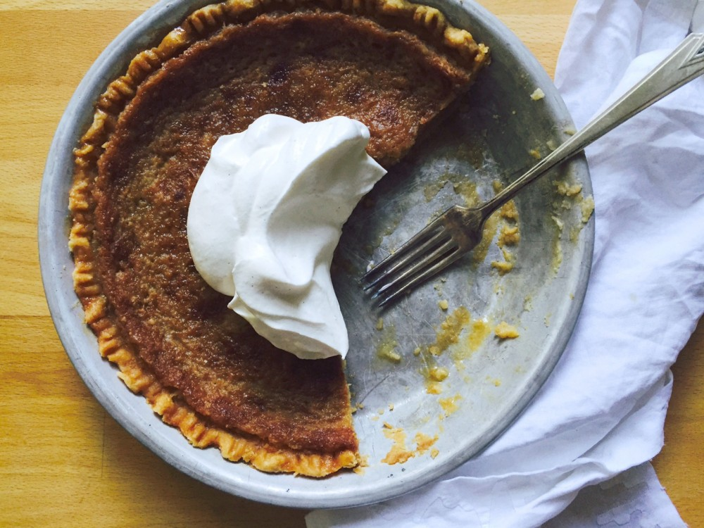 How is it that I've never made a maple syrup pie? Such a Canadian ...
