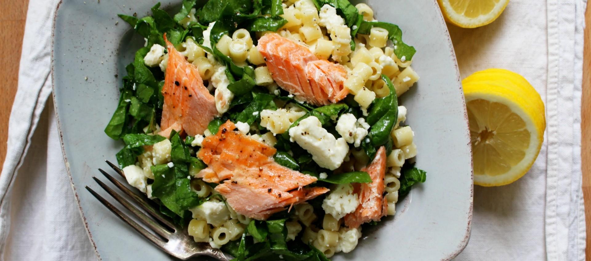 Spinach & feta pasta salad 1