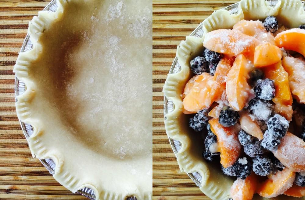 Stone fruit crumble pie 2
