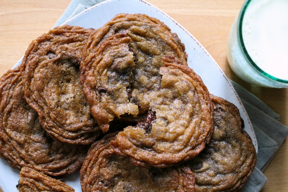 Thin & Chewy Chocolate Chip Cookies - Dinner With Julie