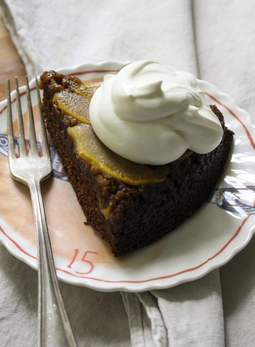upside-down-pear-gingerbread-1