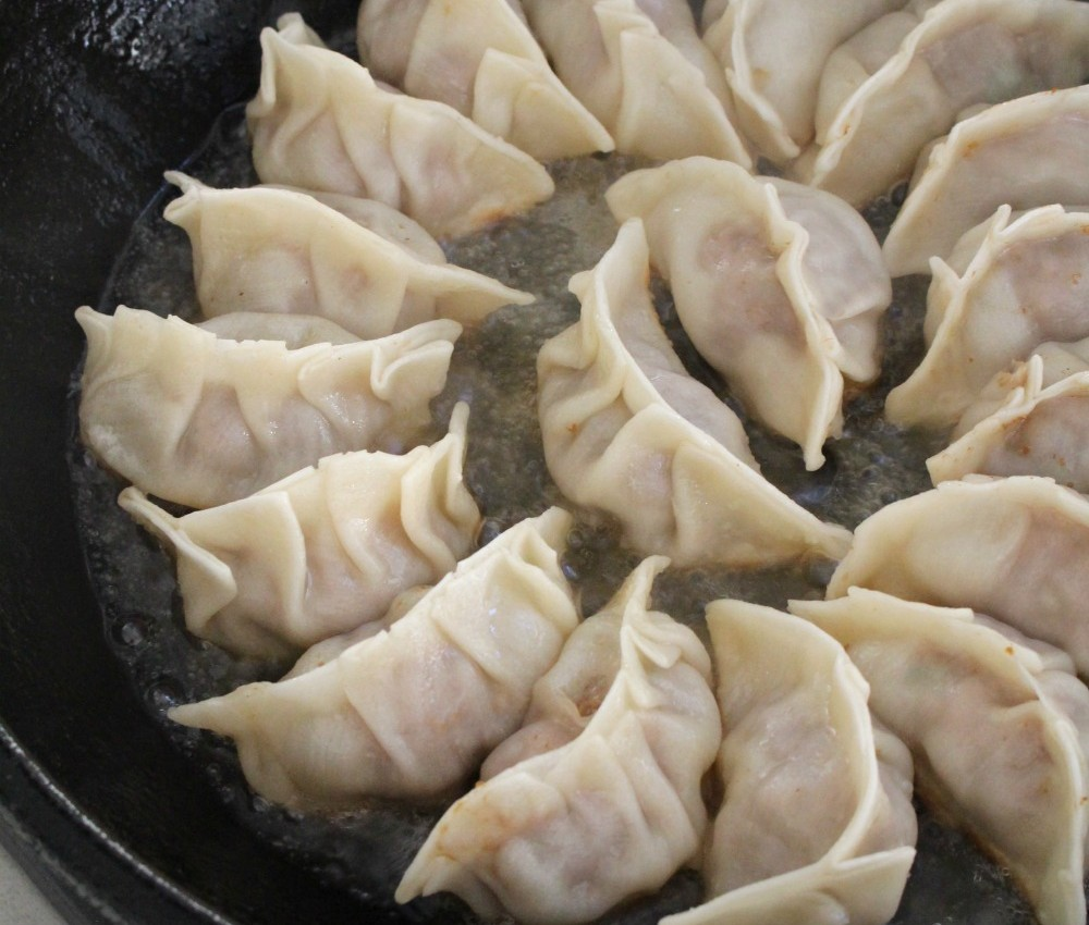 Cooking potstickers